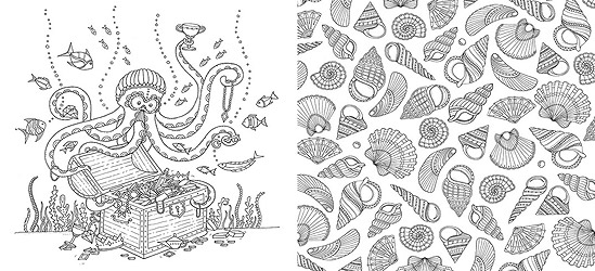 lost ocean an inky quest coloring book - Ocean Coloring Book